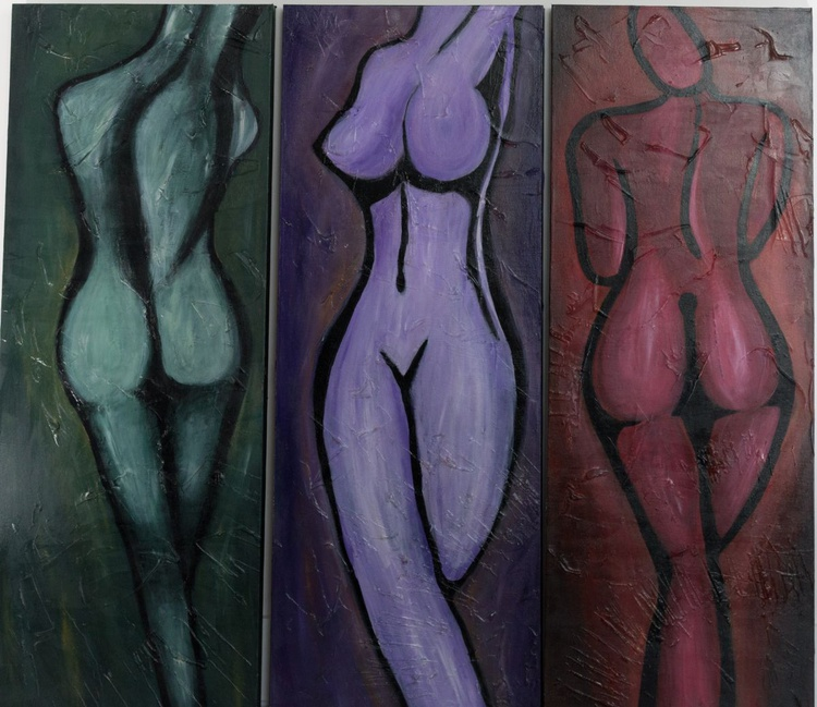 """""""Naked True"""" Tryptich - Image 0"""