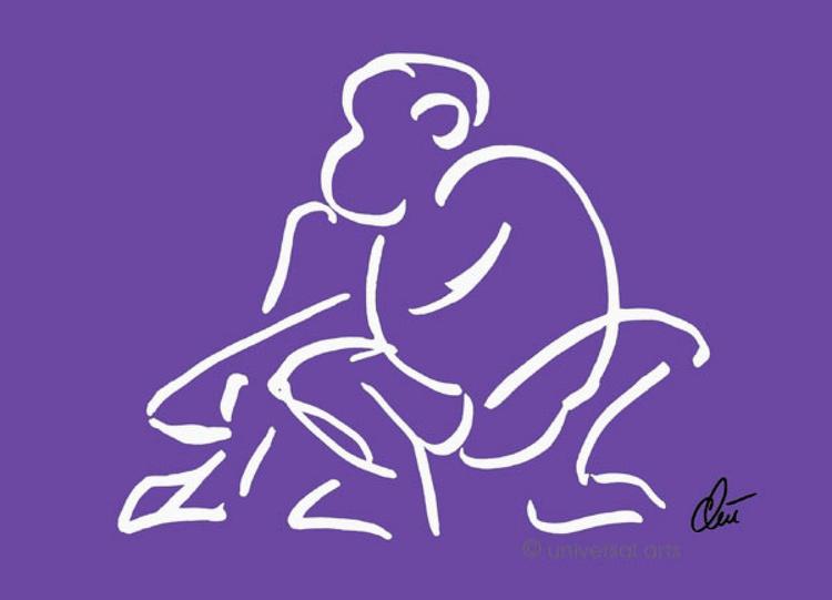 Affe - Lila (Monkey - purple) - Image 0