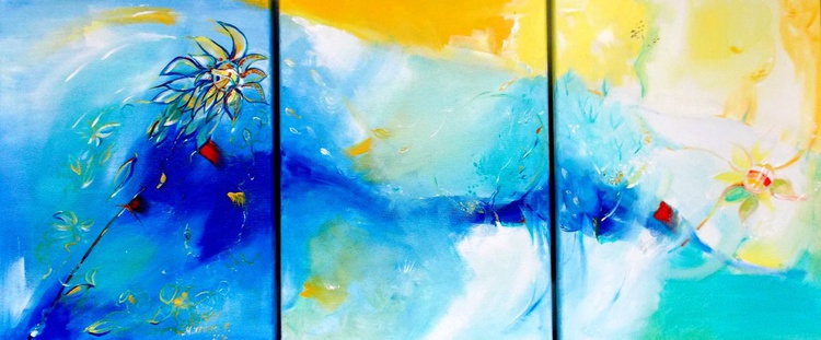 """""""The South Wind """" - Triptych - Image 0"""