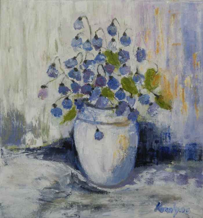 Blue bells in a vase -