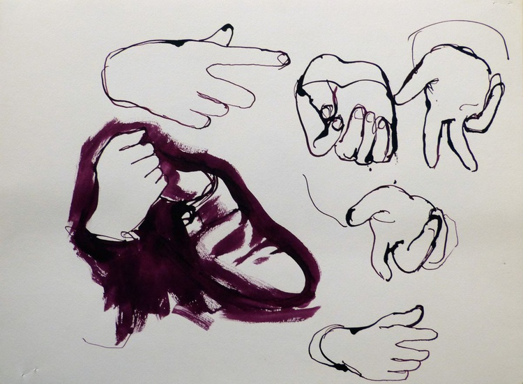 Study Of Hands 7, 32x24 cm - Image 0