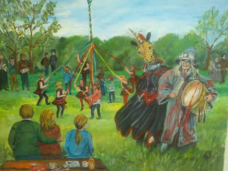 Maypole  Dancing -