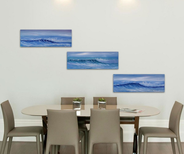 Ocean Waves Triptych - Image 0
