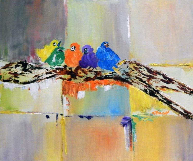 OP-048 Five Baby Birds - Image 0