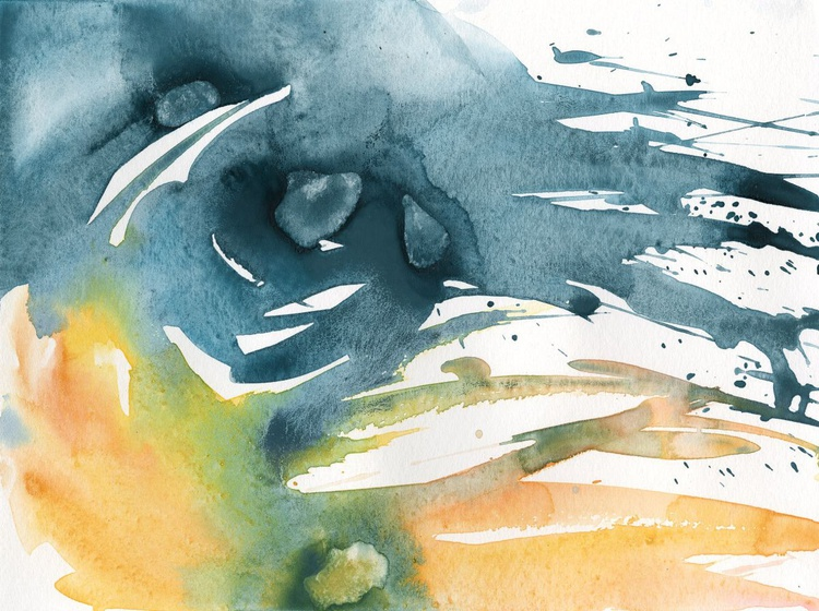 Serenity 22 - Abstract Watercolor Painting by Kathy Morton Stanion - Image 0