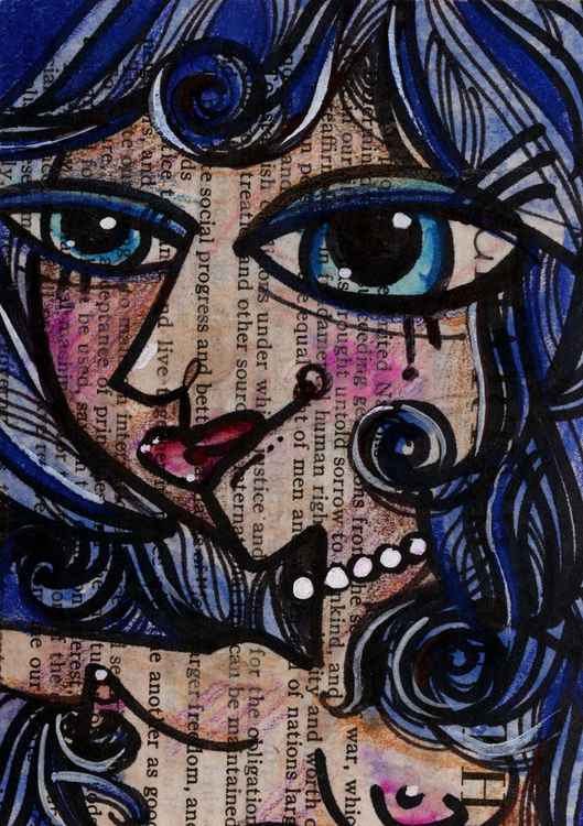 Nude Goddess 22 - Mixed Media Art -
