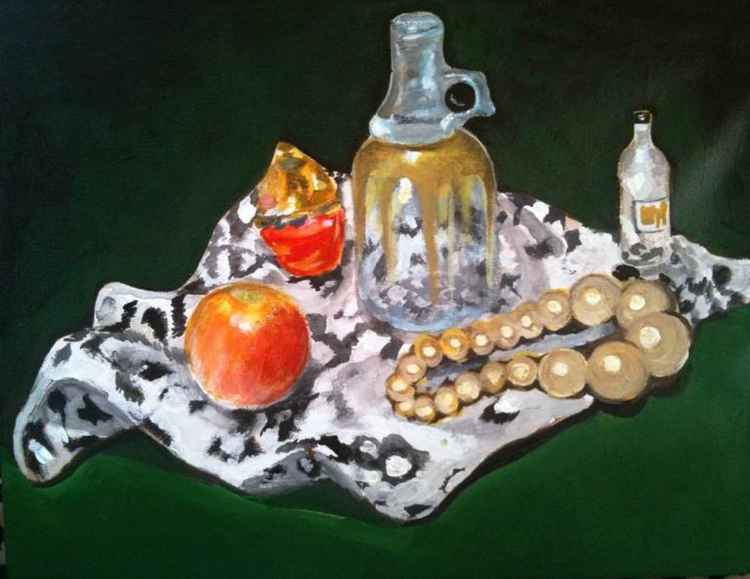 Pearls  still-life -