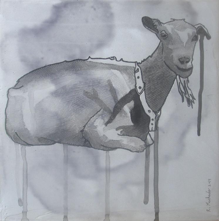 Goat Carved I - Image 0