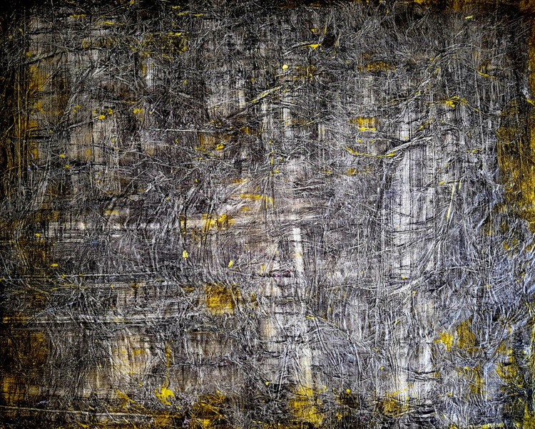 Scratch my heart (n.206) - abstract landscape - 89 x 72 x 2,50 cm - ready to hang - acrylic painting on stretched canvas - Image 0