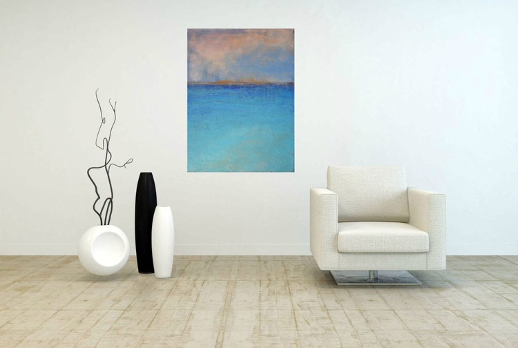 """Abstract seascape painting """"A beautiful day"""" - Image 0"""