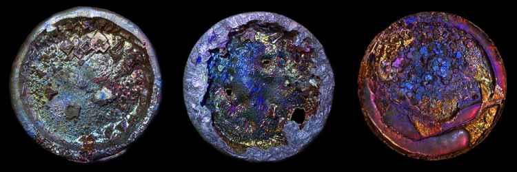 Bismuth triptych -