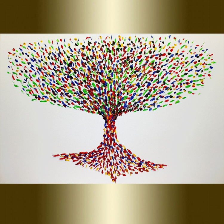 Colorful Abstract Tree. - Image 0
