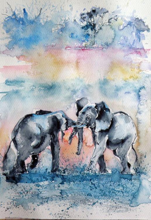 Elephant meeting - Image 0