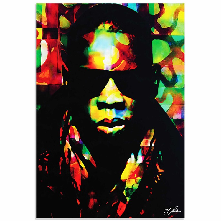 Mark Lewis 'Jay Z Color of a CEO' Limited Edition Pop Art Print on Acrylic - Image 0