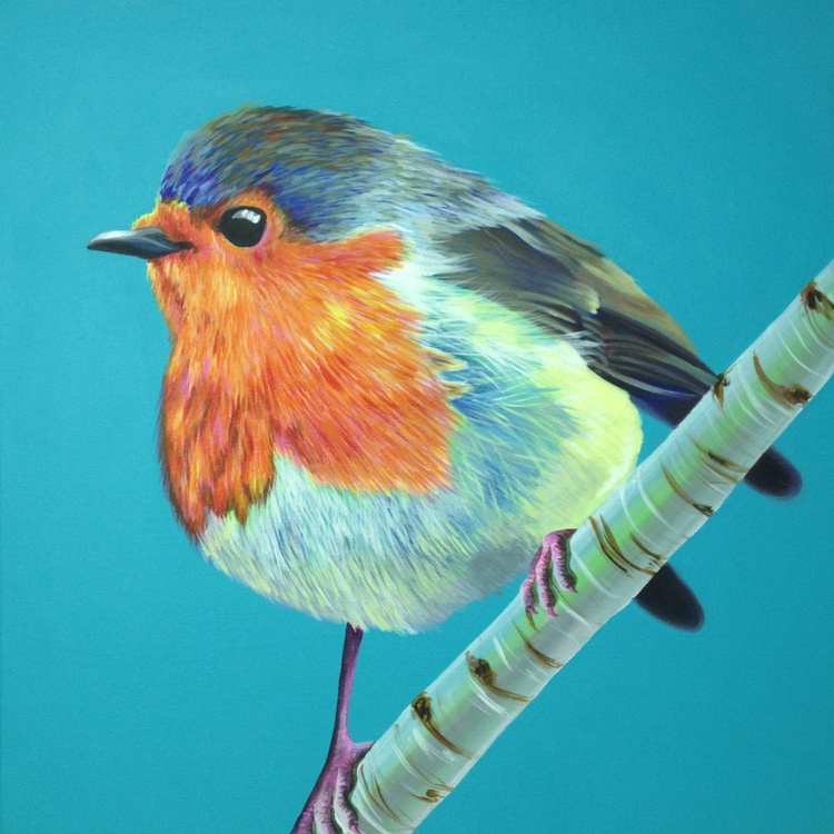 Original Painting of 'Robin' by Kirstin Wood - Image 0