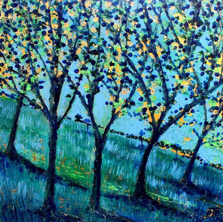 Landscape in Blue and Gold I