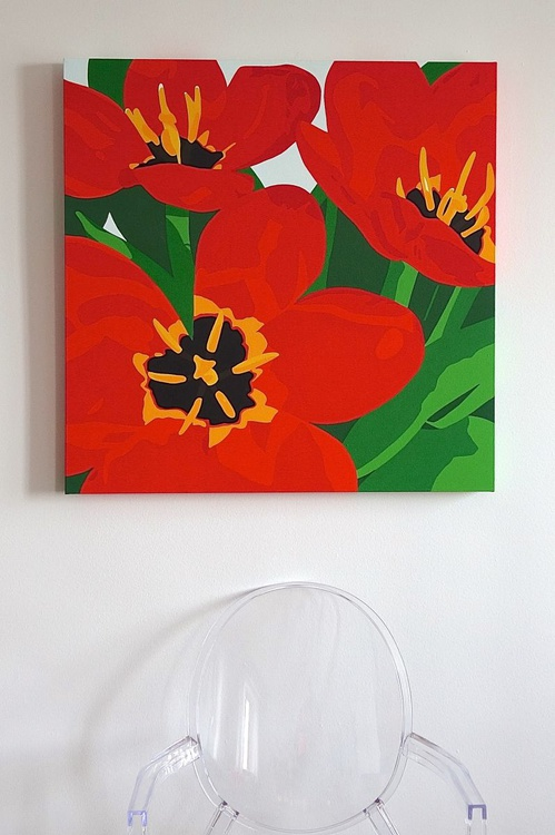 Fierce Red Tulips - Image 0