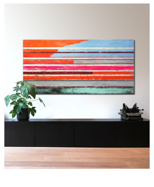 Supersized-artwork - Neon Pop Striped Color XL - A42- when size matters - Image 0