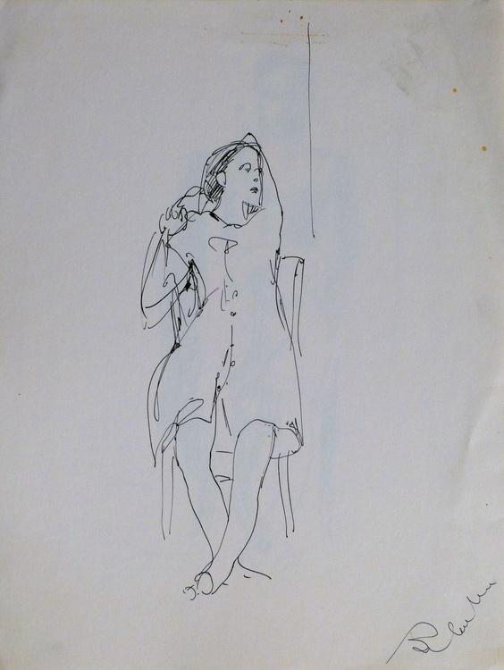 Sitting Woman #4, 24x32 cm - Image 0