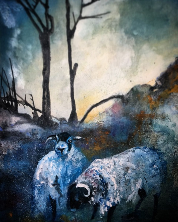 Sheep in winter - Image 0