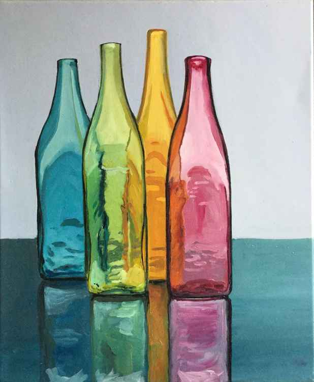 Still Life / Color bottles -