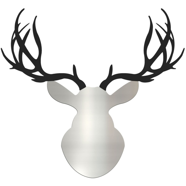 Enforcer Buck | Large Silver & Black Deer Cut-Out - Image 0