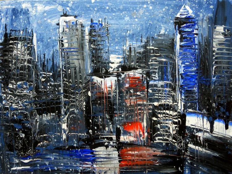 Rain in city, 40x30 cm - Image 0