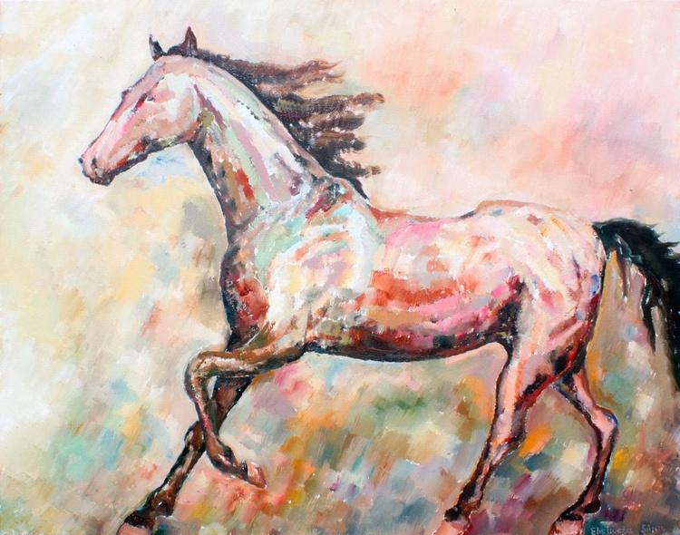 BROWN HORSE 27x35', 70x90 cm - Image 0