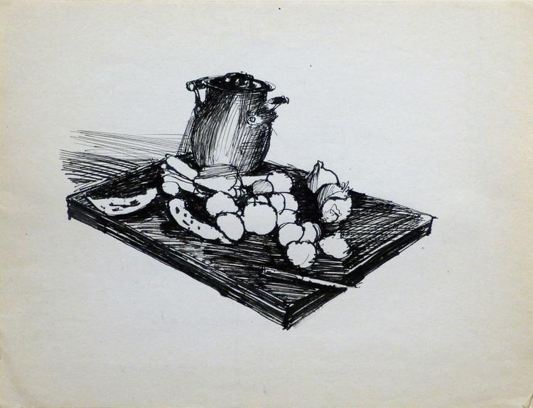 Still Life: Kitchen #4, 24x31 cm - Image 0