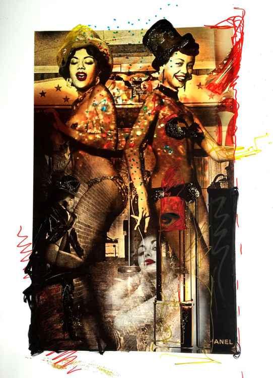 """L.A. Girls"" - hand embellished print -"