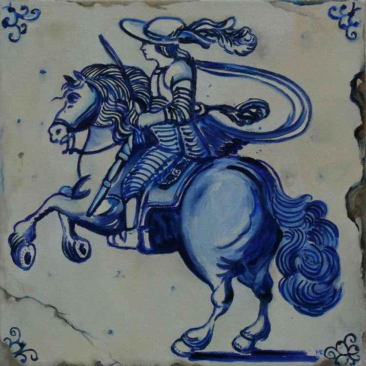 Horseman Delft Blue -