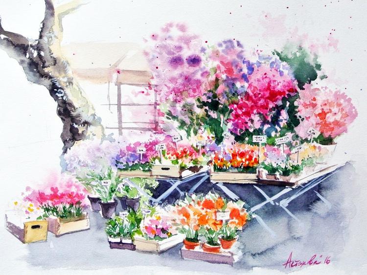 Flowers' Market in Aix-en-Provence - Image 0