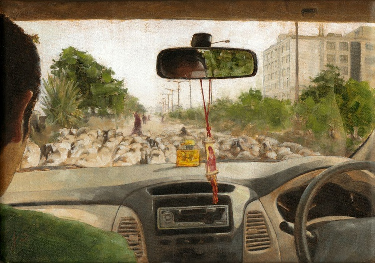 """'Inside Looking Out in India' / 7.3"""" × 5.1"""" - Image 0"""