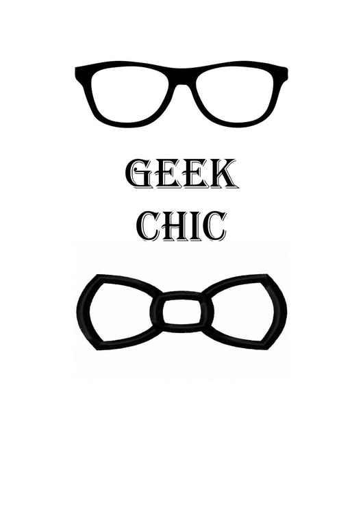 Geek Chic Print