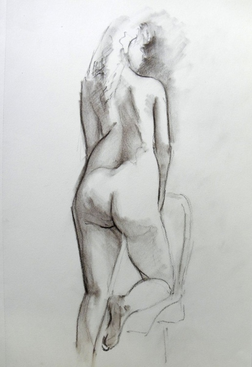 Nude in sepia - Image 0