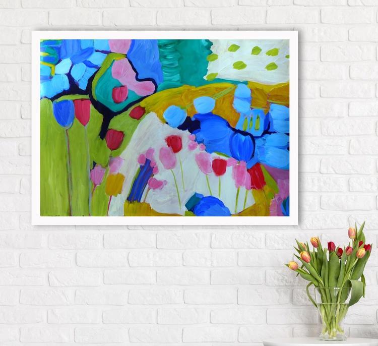 """Tulip Season - 40"""" x 28"""" - Image 0"""
