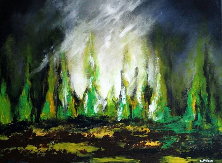 Blackwater bay - abstract painting - Image 0