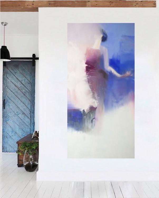"Oversized Figurative Painting ""Piece of Sky"" - Image 0"