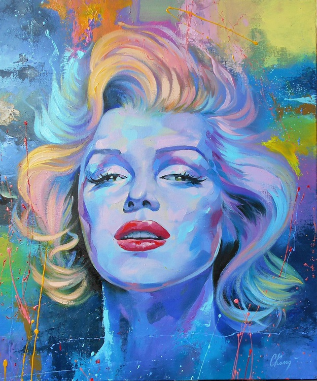Marilyn / Oil on canvas / Free Shipping - Image 0