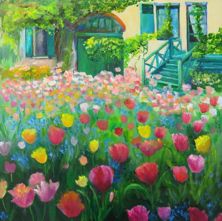 Tulip time in Monet`s Garden. - Image 0
