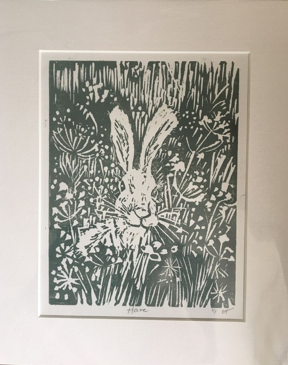 Hare , printed in green - Image 0