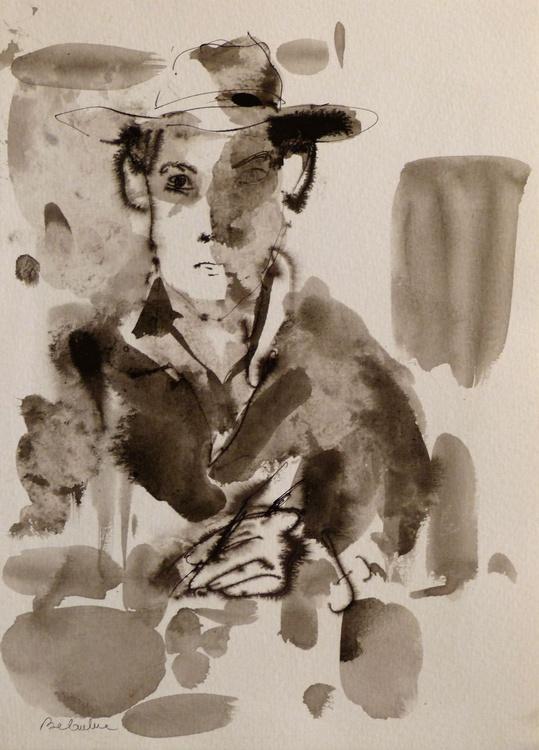 Self Portrait with a hat, 21x29 cm - Image 0
