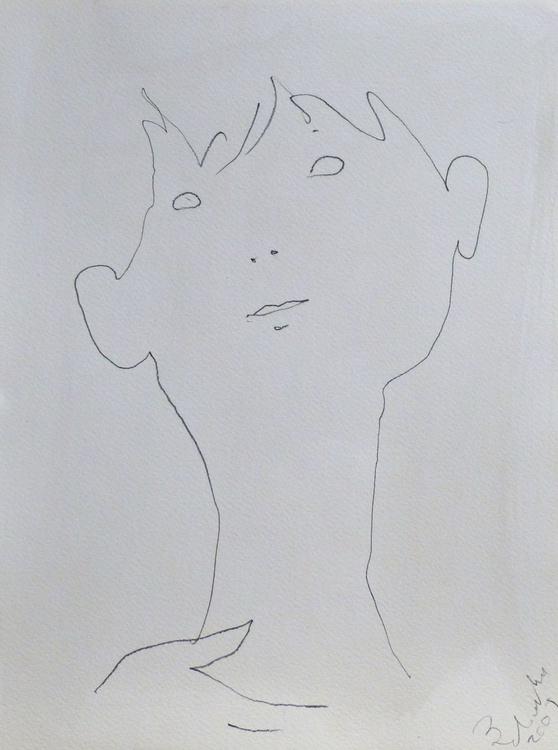 Face, 41x30 cm - Image 0