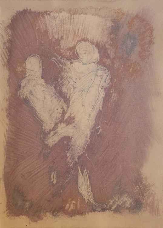 Prolegomena #81 , Acrylic on paper 29x42 cm -