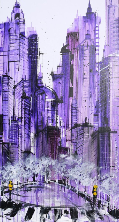 City Dreams - 1 metre x 50cm, ready to hang - Image 0