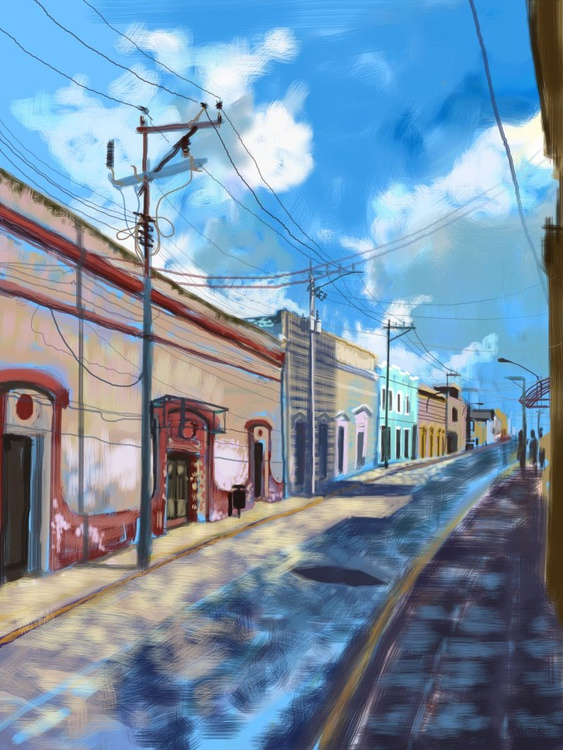 Street Shadows, Merida, Mexico - Image 0