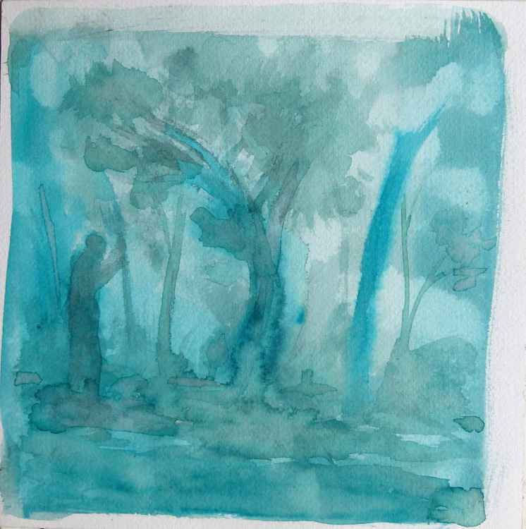 Blue Forest, 24x24 cm