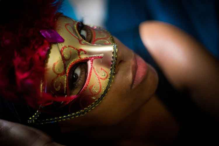 Lady G in a mask -