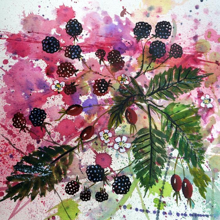 Blackberries and Rose Hips - Image 0