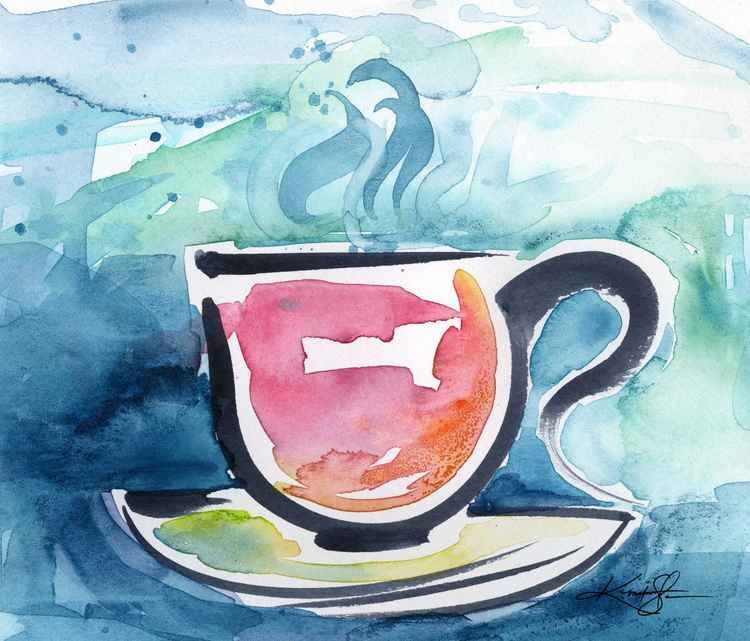 Coffee Dreams No 16 - Original Watercolor -